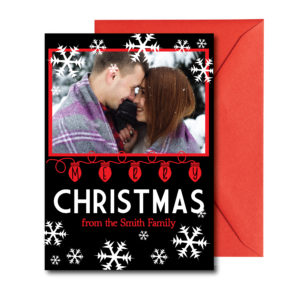 Black and Red Photo Christmas Card