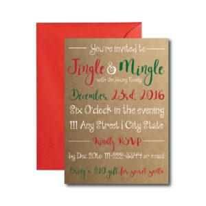 Jingle and Mingle Holiday Party Invite