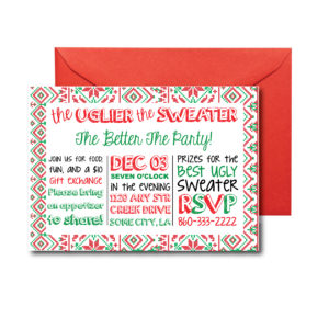 Ugly Christmas Sweater Invite