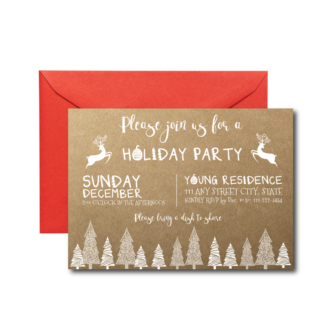 Rustic Holiday Party Invite