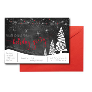 Chalkboard Winter Wonderland Invite