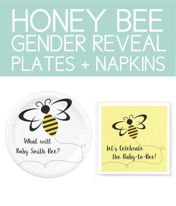 Honey Bee Plates and Napkins