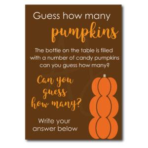 Guess How Many Pumpkins