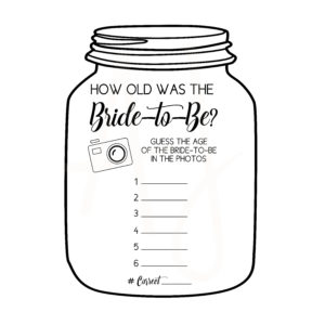Mason Jar Guess the Bride's Age Game