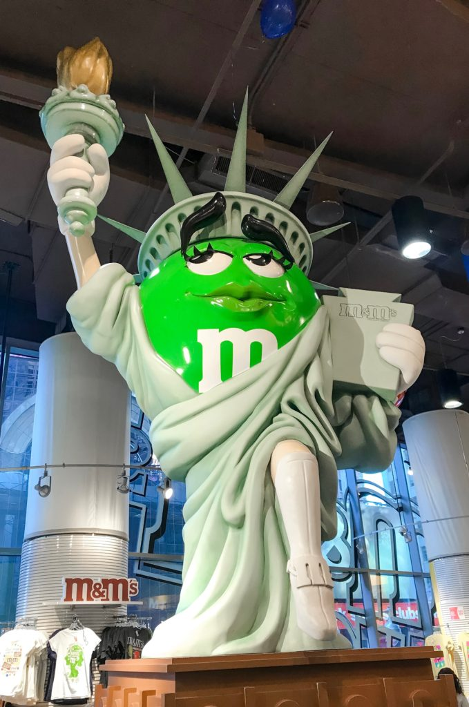 Visit the M&M Store on Times Square in New York