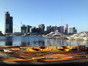 Kayak through the Melbourne CBD