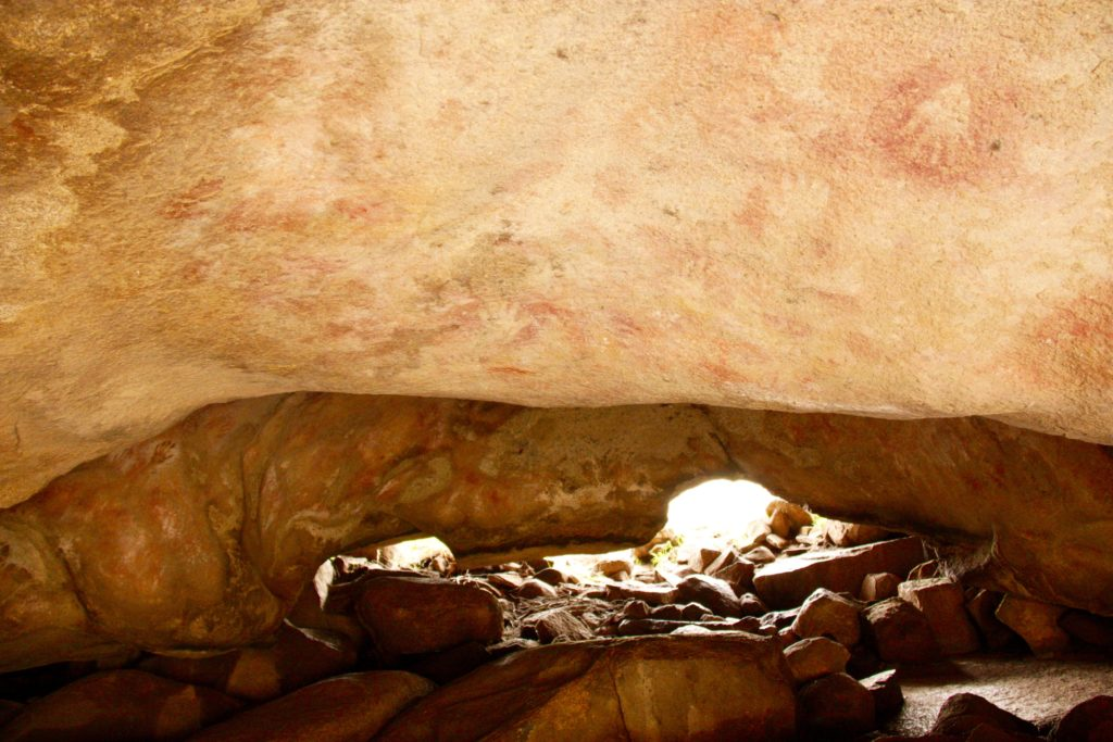Cave with Aboriginal Drawings
