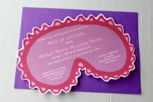 Non-traditional Bridal Showers: Sleepover Invite