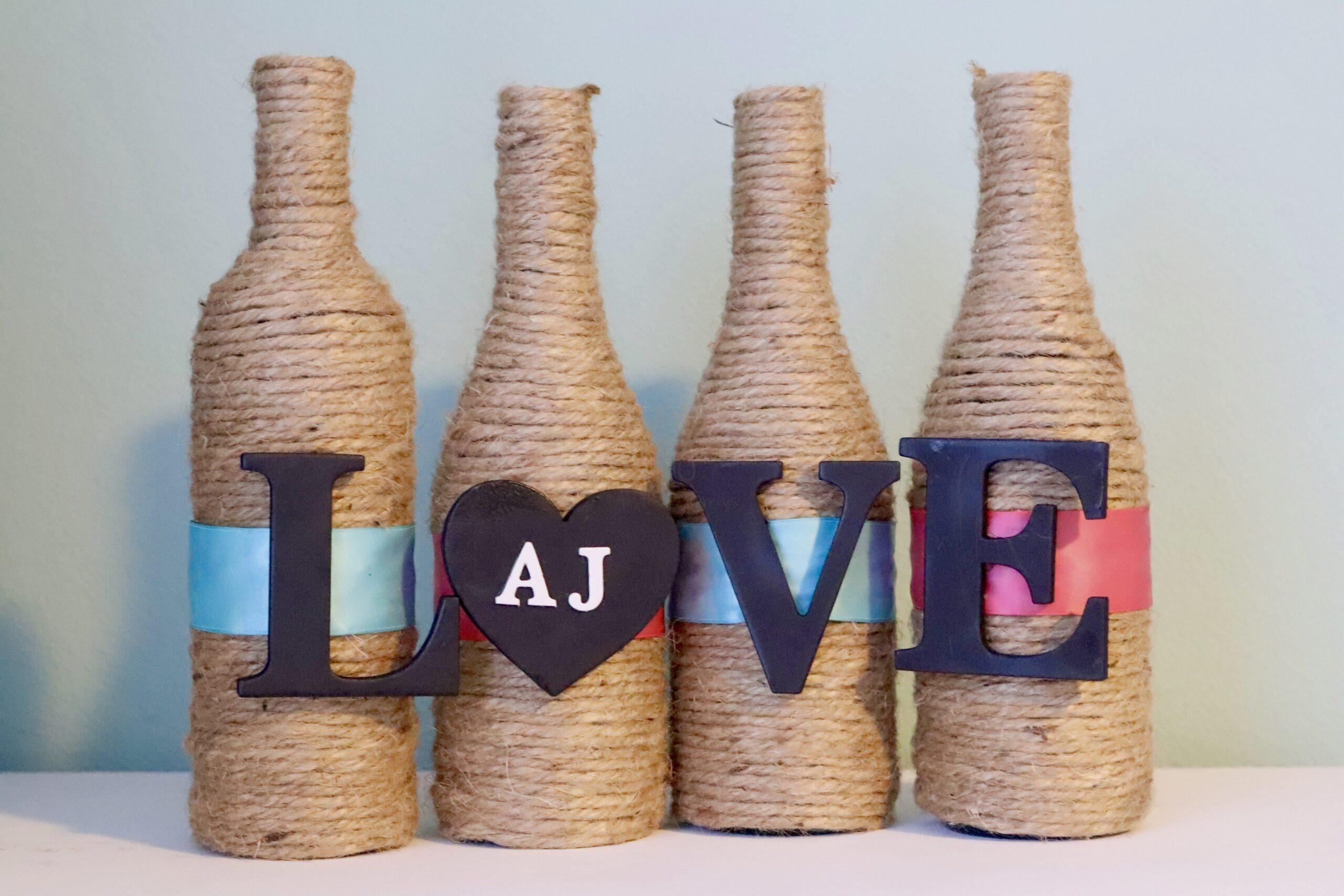 Valentine Crafts: Wine Bottle Vases