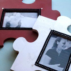 Valentine Crafts: Puzzle Frames