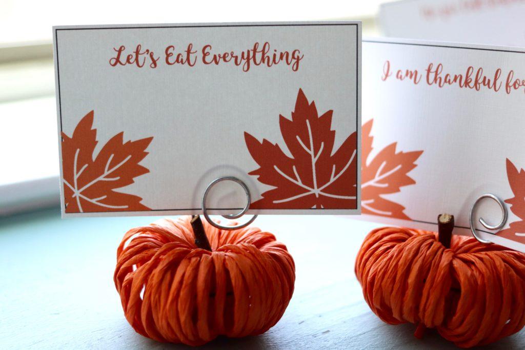 Pumpkin Place Card Holders