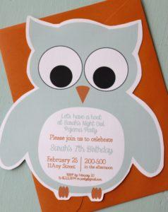 Owl Themed Invite