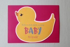 Duck Baby Shower Invite