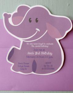 Elephant Shaped Invite