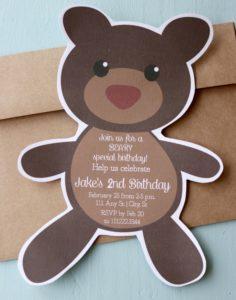Beary Special Birthday Invite