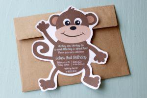 Monkey Shaped Invite