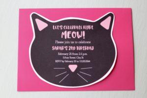 Cat-Shaped Invite
