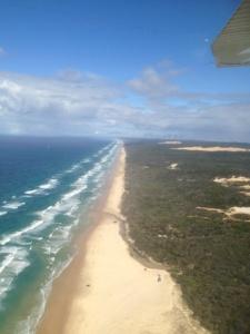 75 mile Beach Highway of Fraser Island
