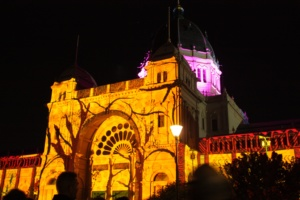 White Night Art Projections on the Royal Exhibition Building in Melbourne