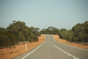 The empty road between Perth and Exmouth