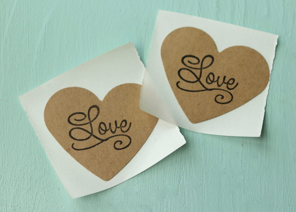 Simple Rustic Love Stickers