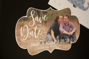 Fun Shaped Save the Date Photo Frame