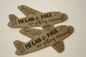 Fun Shaped Save the Date Airplane