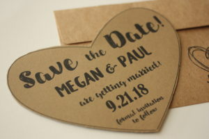 Fun Shaped Save the Date Heart
