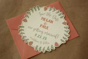 Fun Shaped Save the Date Floral