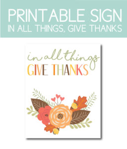 In All Things, Give Thanks, Sign for Fall