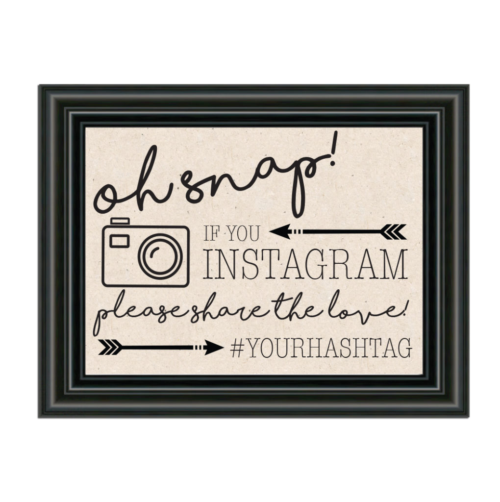 Rustic Instagram Sign