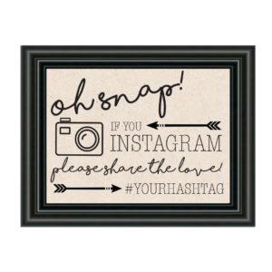 Rustic Instagram Sign