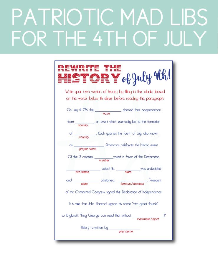 July 4th mad libs