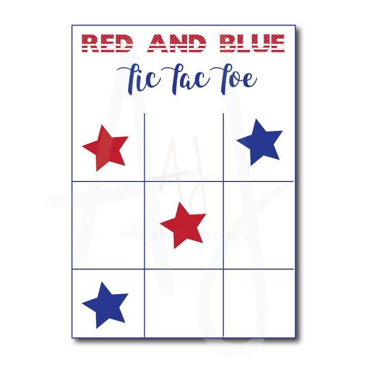 July 4th Tic Tac Toe game