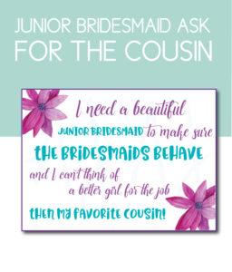 Favorite Cousin Bridesmaid Card