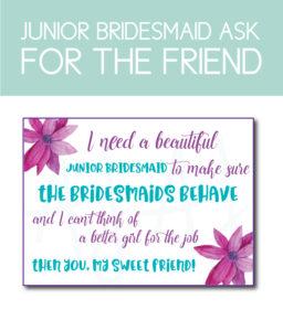 Junior Bridesmaid Ask Card