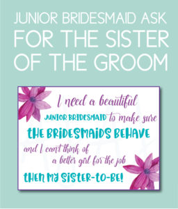 Sister-to-be Bridesmaid Card