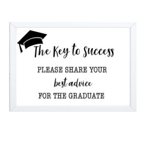 Keys to Success Graduation Sign