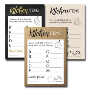 Kitchen Words Bridal Shower Game