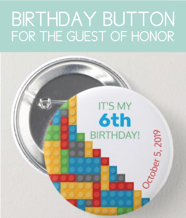 Guest of honor party button