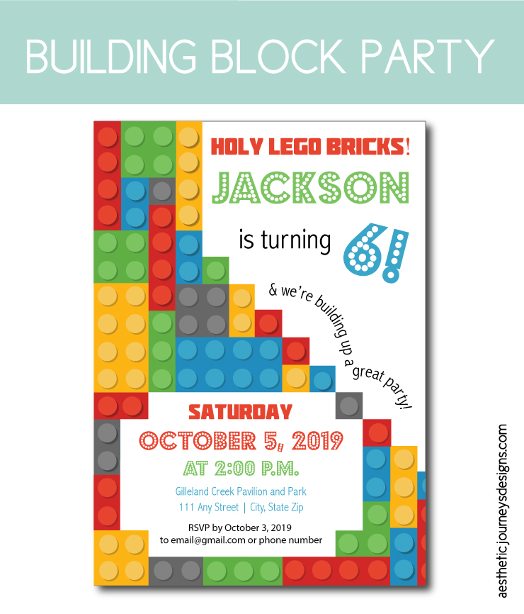 Building block birthday party