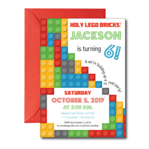 Building Blocks Party Invite