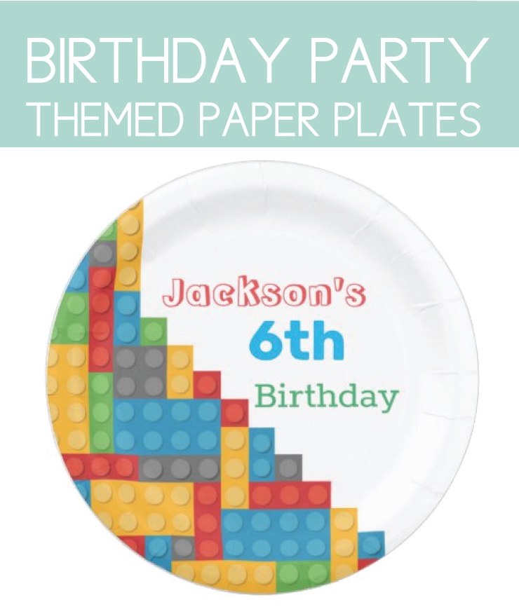 Personalized party plates