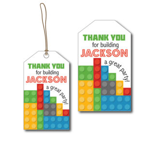 Building Blocks Party Tags