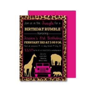 Jungle Party Invite