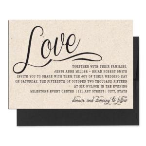 Rustic Love Wedding Invite