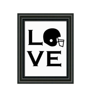 Football Love Sign