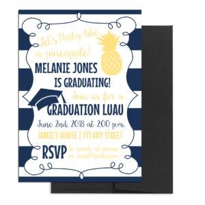 Hawaiian Themed Luau Graduation Invite