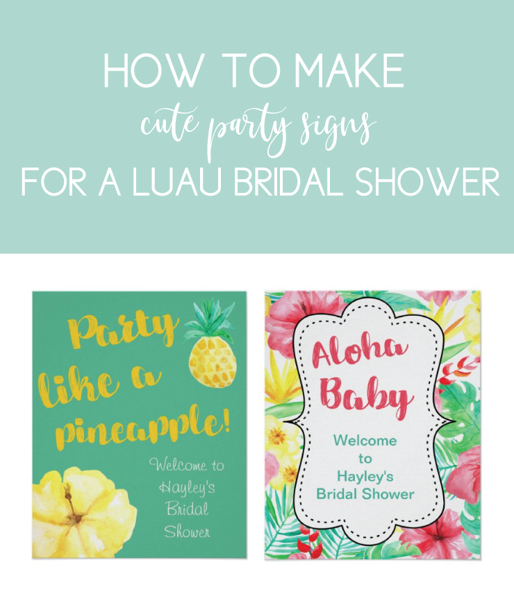 luau party signs