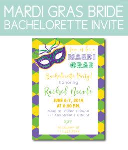 Mardi Gras Bride Bachelorette Theme
